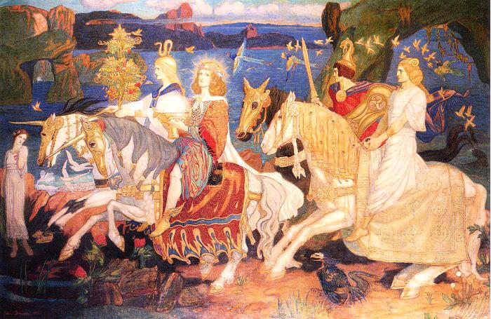 «Всадники сидов». Джон Дункан, шотландский художник XIX в.