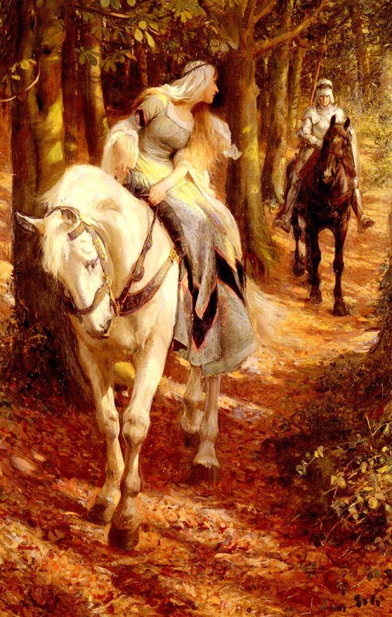 """Роуланд Колесник (1870-1955) """"Энид и Джерэйнт"""""""