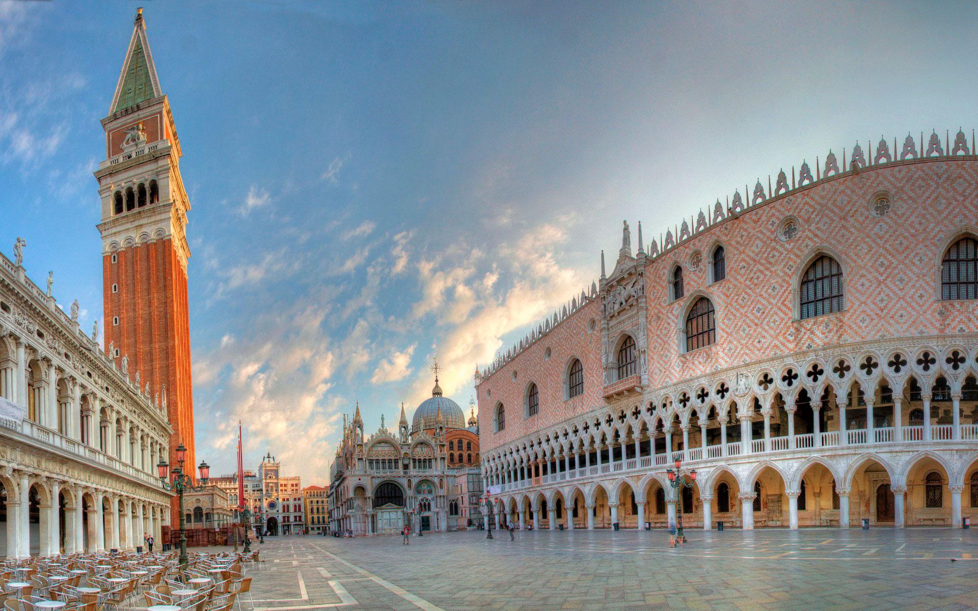Обои дворец дожей, венеция, пьяцетта, Колонна Святого Марка. Города foto 12