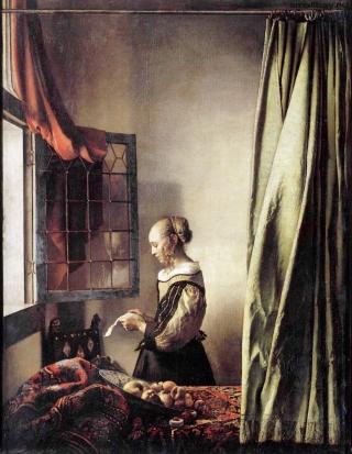"""Ян Вермеер. """"Девушка, читающая письмо у раскрытого окна"""""""