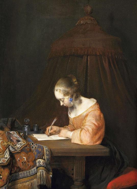 "Герард Терборх, ""Женщина, пишущая письмо"""