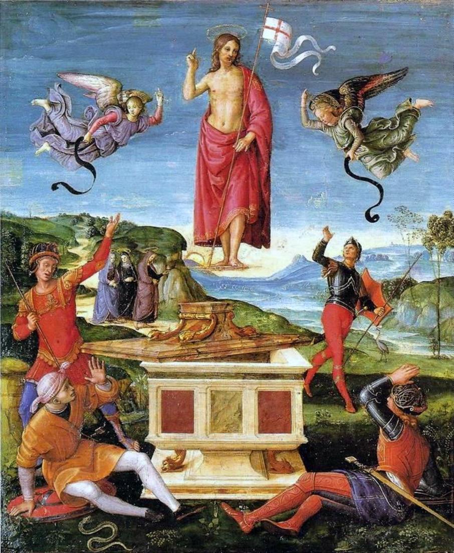 Воскресение Христа. Рафаэль Санти. 1501-1502. Сан Паоло. Музей искусств