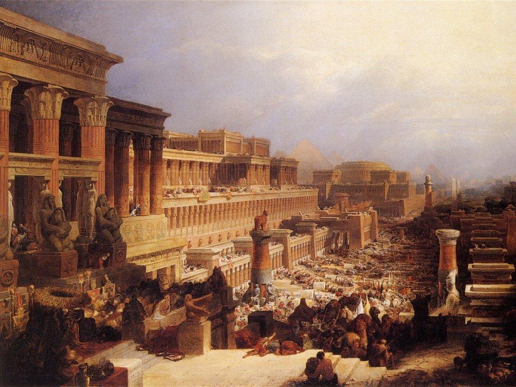 """Дэвид Робертс """"Евреи покидают Египет"""""""