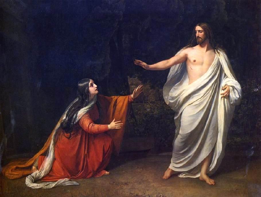 Иванов Александр Андреевич. Явление Христа Марии Магдалине после воскресения. 1835.
