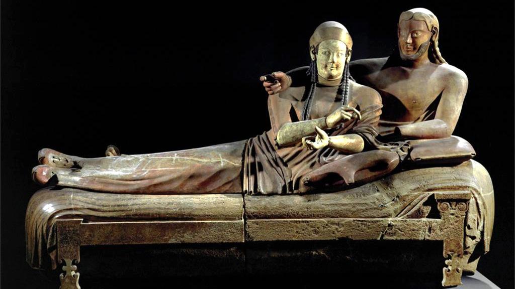 Саркофаг этрусской супружеской пары из Черветери, VI век до н.э.