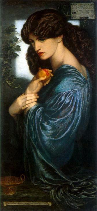 «Прозерпина», Д. Г. Россетти 1874 год, галерея Тейт, Лондон