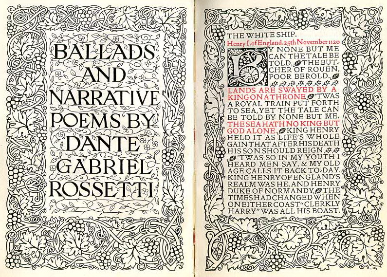 Данте Габриэль Россетти. Баллады и эпические поэмы (Dante Gabriel Rossetti. Ballads and narrative poems) Издание Уильяма Морриса