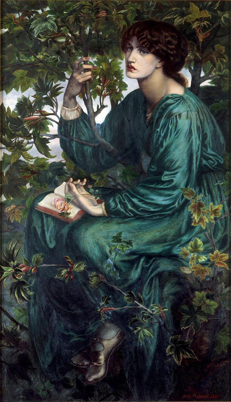 Один из многочисленных портретов Джейн Моррис. «Сон наяву», 1880, Музей Виктории и Альберта, Лондон