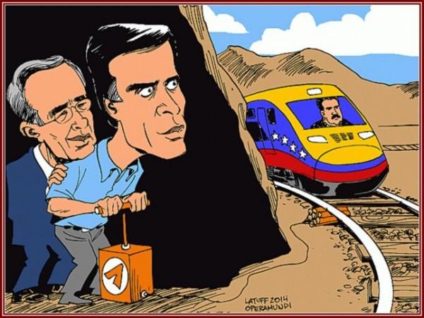 карикатура на оппозиционность Леопольдо ЛОпеса