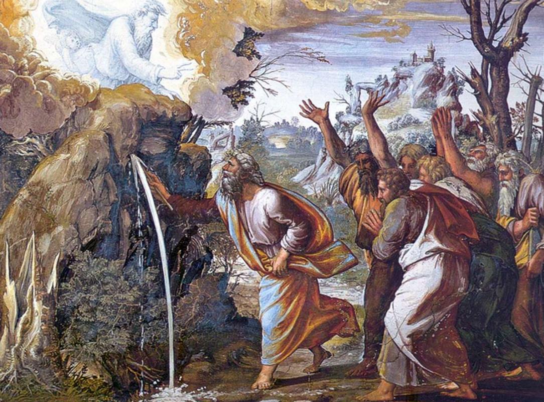 Чудо источника на картине Рафаэля Санти.