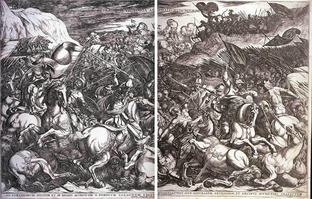 """Иллюстрация к """"Исходу"""" в немецкой Библии XVII века."""