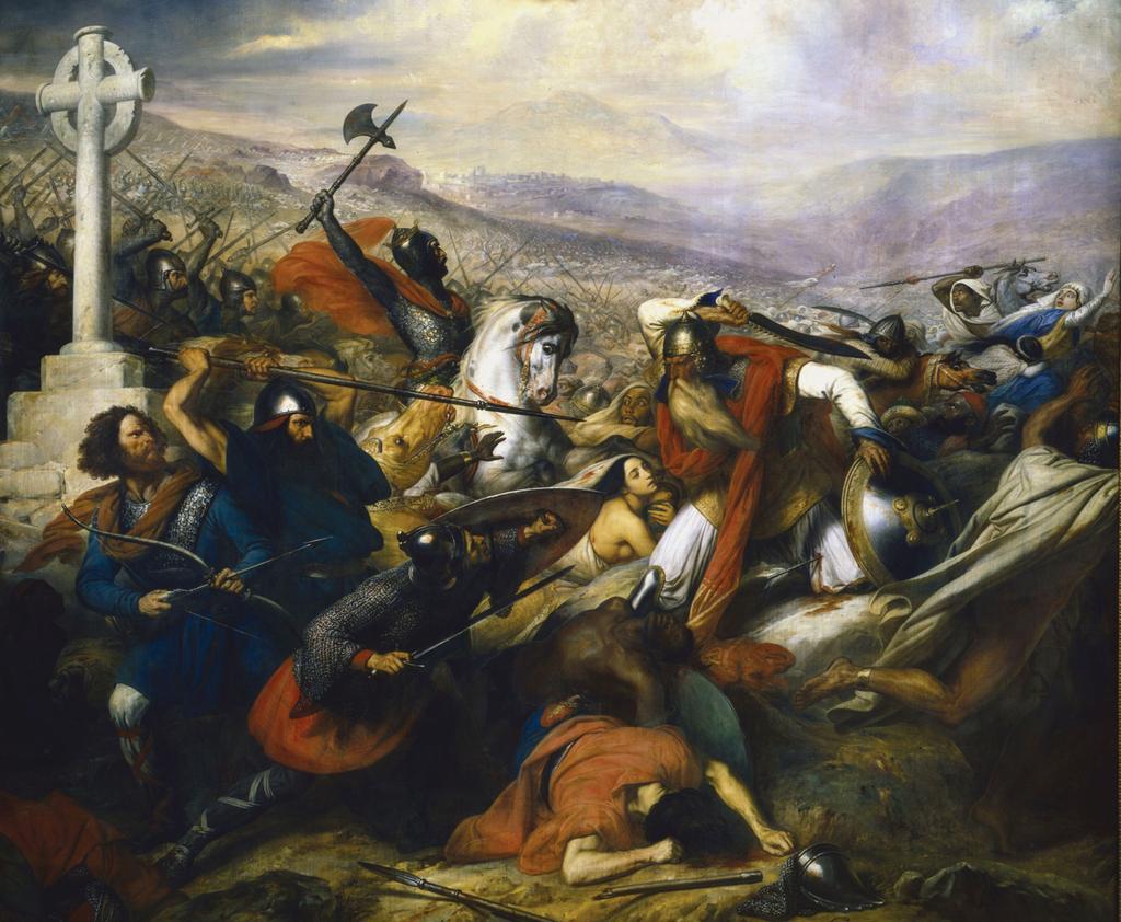 Карл Штейбен. Битва при Пуатье 732 года